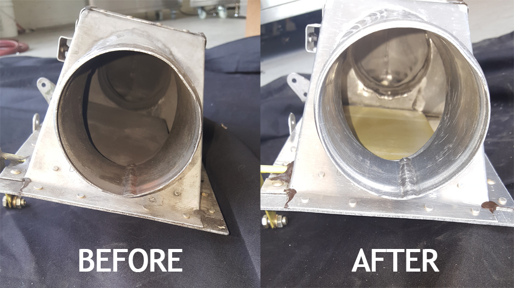 Before and After ultrasonic cleaning with Pro Ultrasonic cleaning equipment