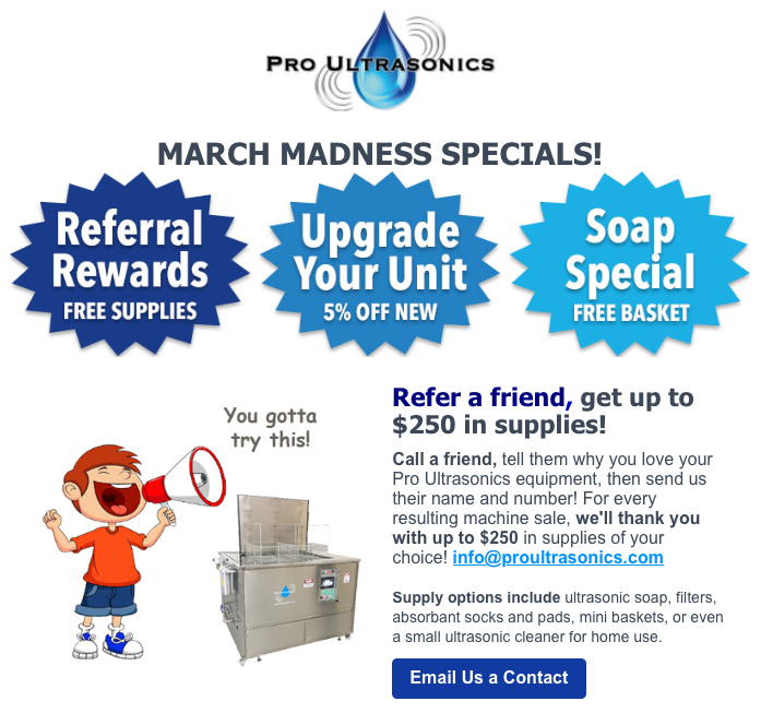 Refer a friend, get $250 in supplies if they buy