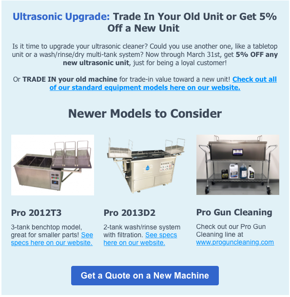 Upgrade Your Unit - get Trade-In Value for old unit, 5% off new one