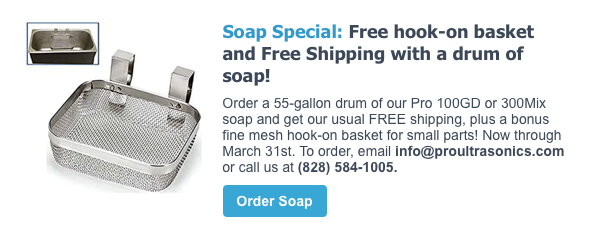 Free hook-on basket and Free Shipping with 55-gal Drum of Soap