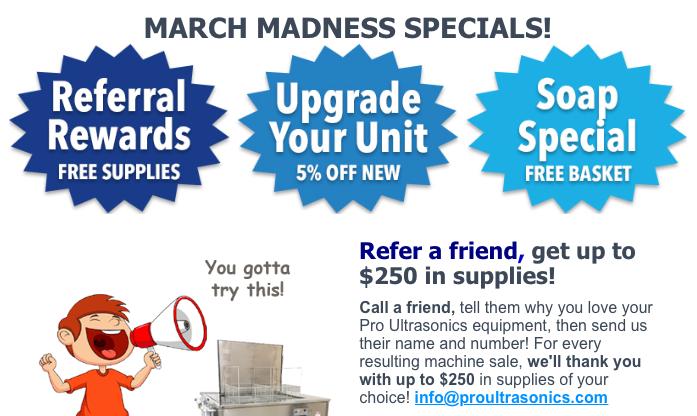 Referral rewards, Upgrade your Unit, Soap Special