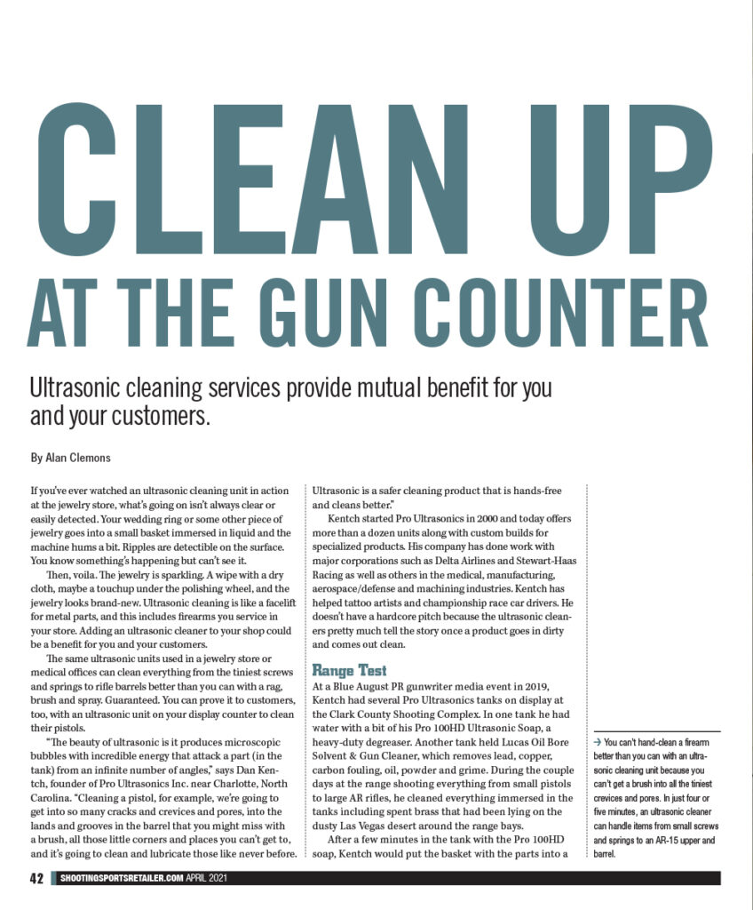 Shooting Sports Retailer Magazine article pg 1a