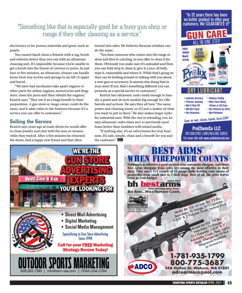 Shooting Sports Retailer Magazine article pg 2b
