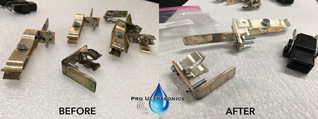 Metal parts before and after Pro Ultrasonics